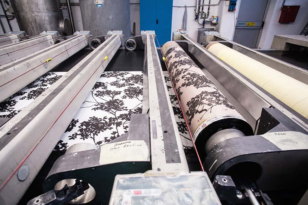 macchina per stampa a cilindro